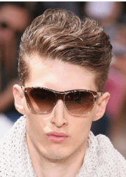 chic men haircuts with geled long