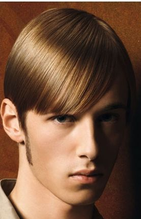 Smooth men hairstyle with long side bang with very straight hair typeJPG 3 comments