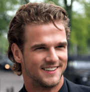 hot medium man hairstyle with light