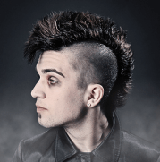 cool funk punk hairstyle