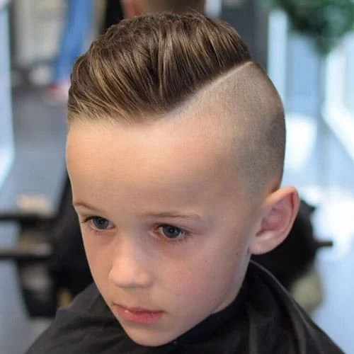 Short Layered Little Boys Haircut