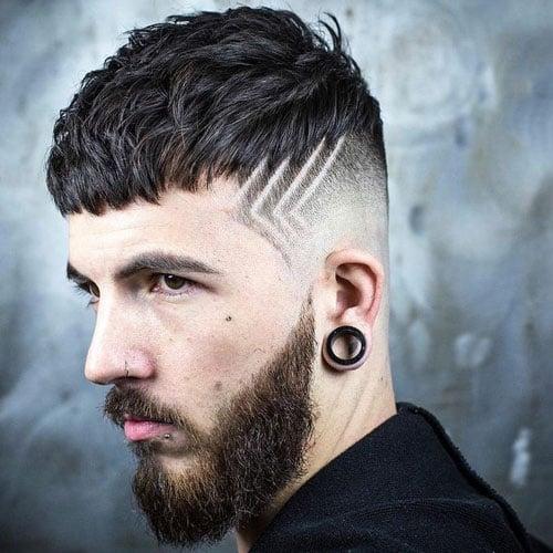 Simple Hair Tattoos For Boys