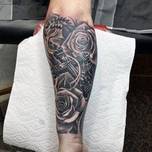 cross tattoos men