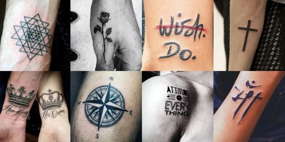 Simple Tattoo For Men On Wrist