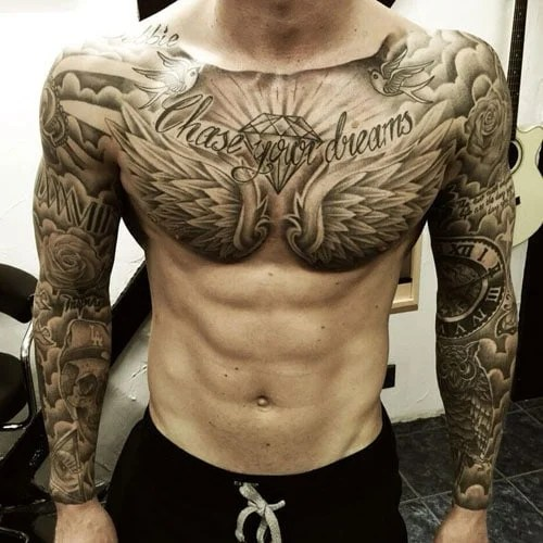 Simple Stomach Tattoos For Men