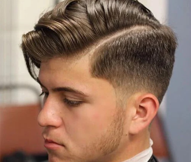 Low Fade And Hard Part With Side Part