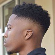 afro taper fade haircut men's