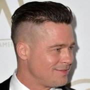 brad pitt fury hairstyle men's