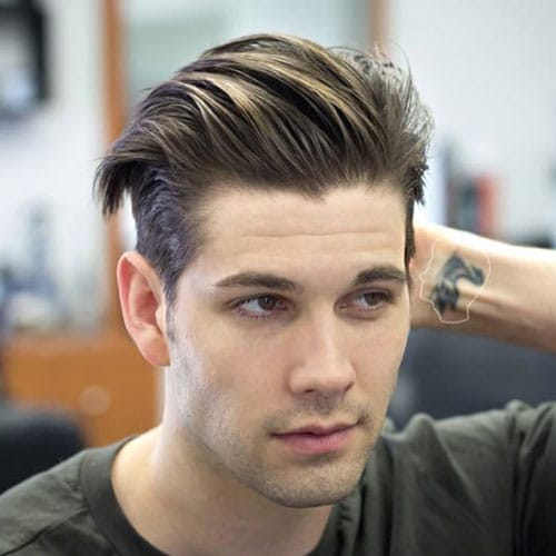 Mens Hairstyles Short Side Long Fringe Easy Casual Hairstyles