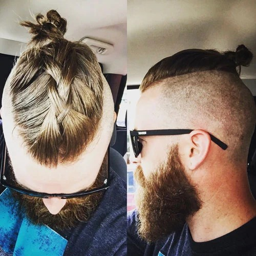 Mens Top Knot Hairstyles Mens Hairstyles Haircuts 2019