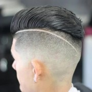 slicked undercut hairstyle