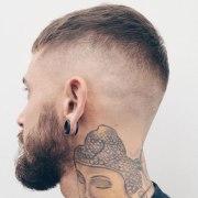 razor fade haircut men's