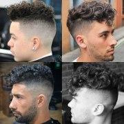 curly hair undercut men's