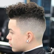 curly hair undercut men's