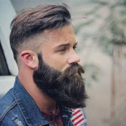 short hairstyles with beards