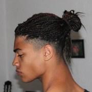 man bun braids hairstyles