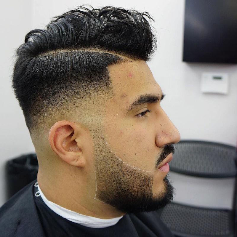 criztofferson_lo fade hard part medium hair on top