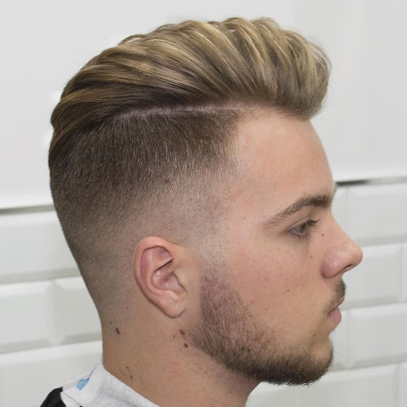 javi_thebarber_disconnected high fade and long hair blown dry