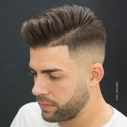 men's hairstyle pompadour fade