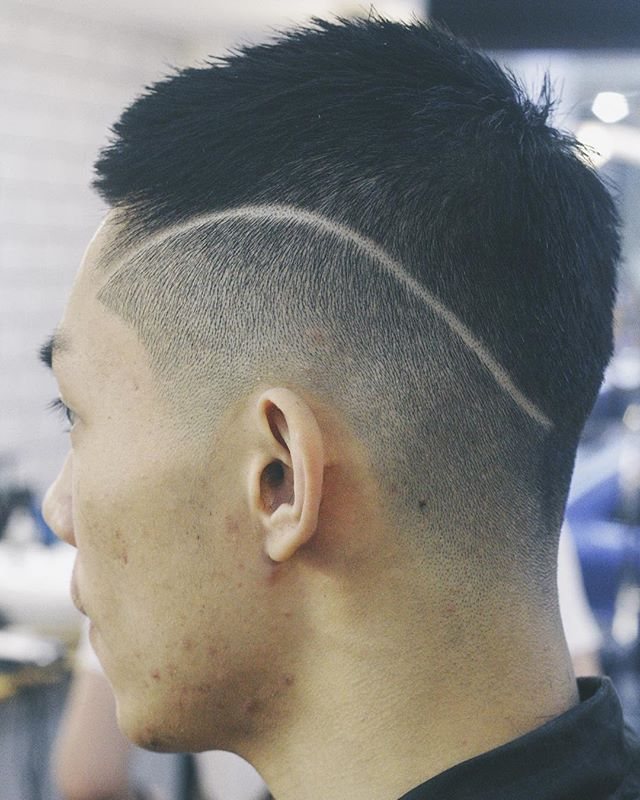 Short Haircut With Line Design The Best Haircut Of 2018