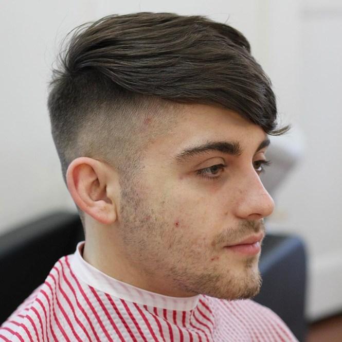 Scissor Cut Medium Length Hair Slicked Back