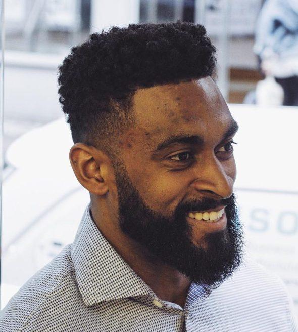 Beard Styles for men low fade cut