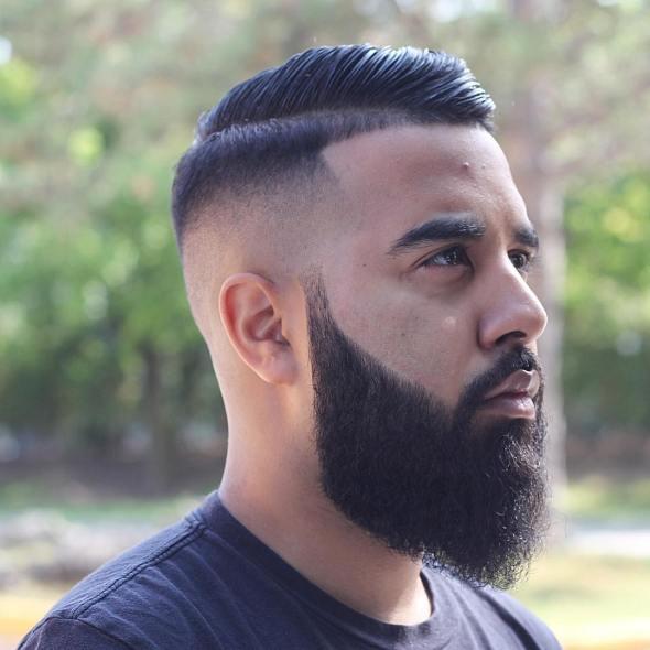 Beard Styles long comb over