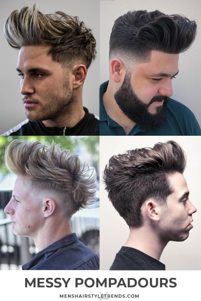 30 pompadour haircuts + hairstyles