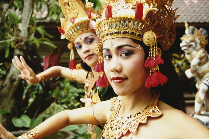 Two Rmayana dancers, in Ubud, Bali, Indonesia