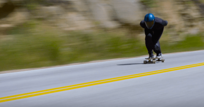 Downhill skateboarder hits 89 mph, breaks world record - Men's Journal