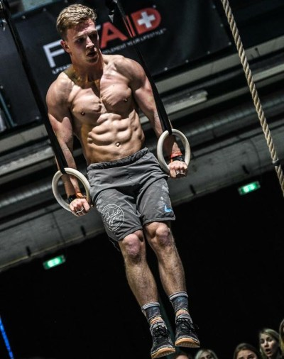 Vegan CrossFitter Jeremy Reijnders in competition