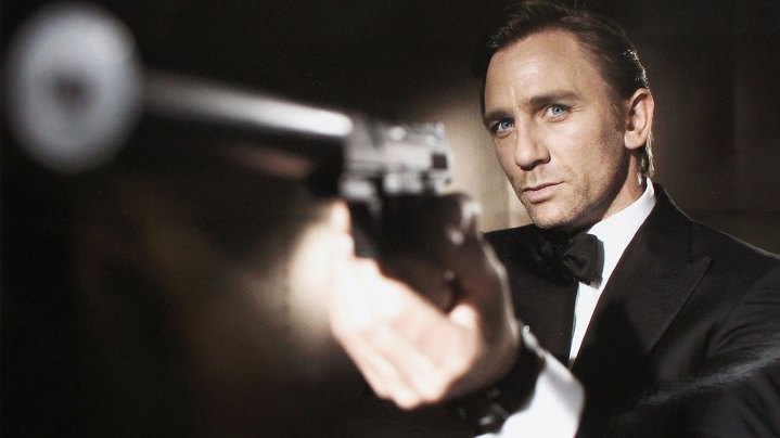 Actor Daniel Craig poses as James Bond. Craig was unveiled as legendary British secret agent James Bond 007 in the 21st Bond film Casino Royale, at HMS President, St Katharine's Way on October 14, 2005 in London, England.