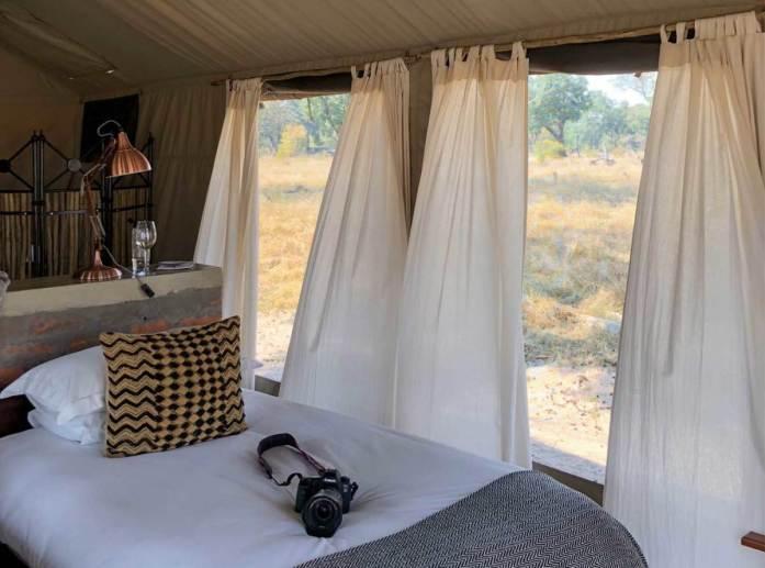Tent in Davison's Camp in Zimbabwe