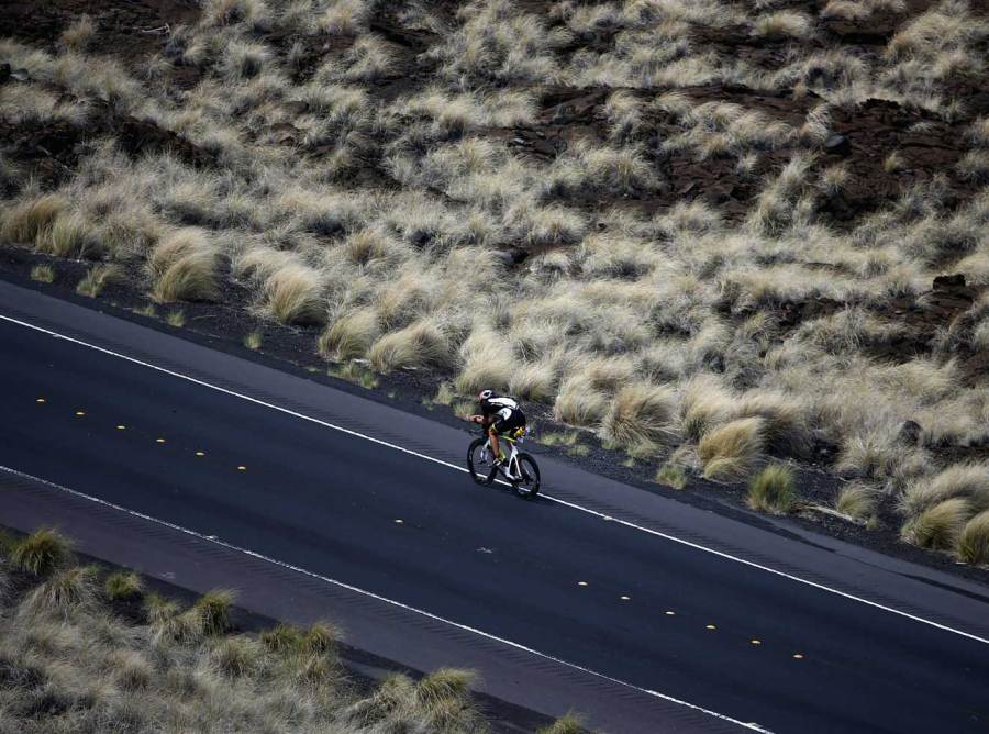 Cyclist competing in IRONMAN World Championship