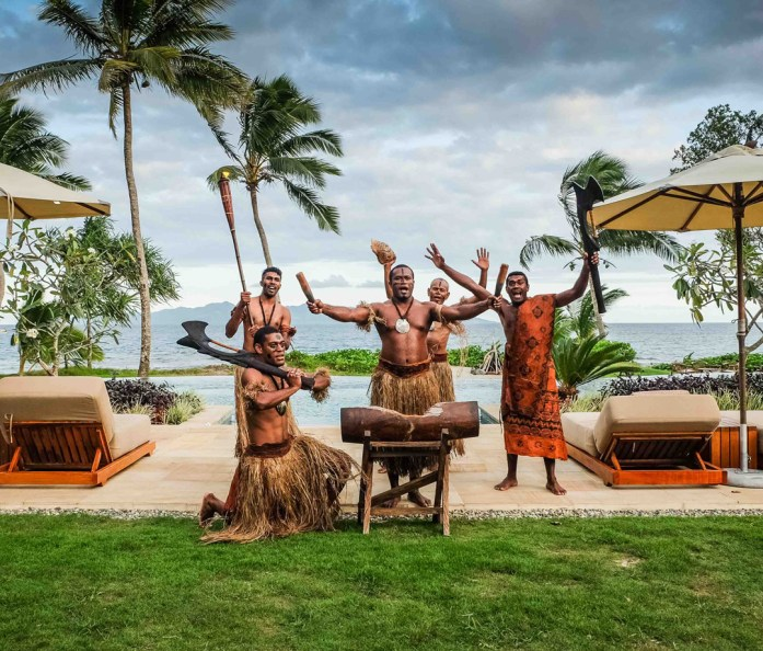Nanuku Auberge Resort staff welcome