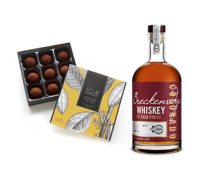 Éclat Chocolate Peruvian Nacional Truffles and Breckenridge Whiskey PX Cask Finish