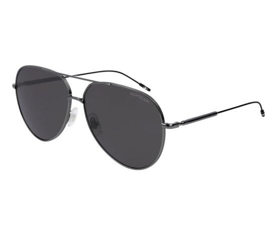 Montblanc Aviator Frame Metal Sunglasses