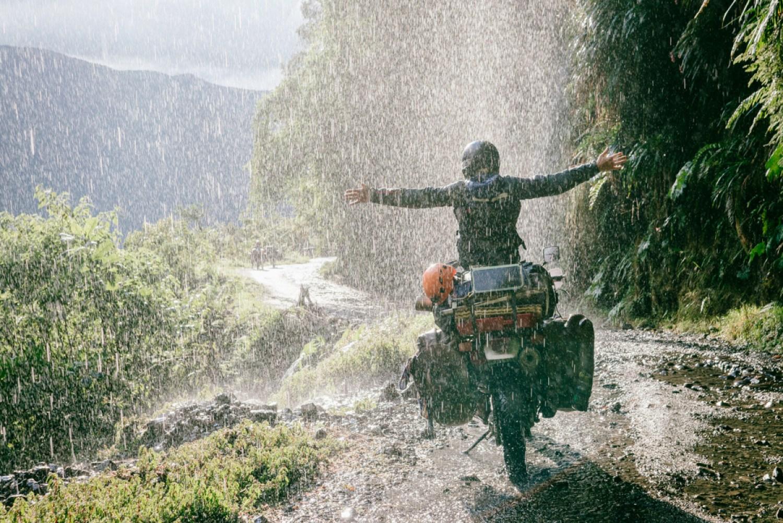 Motorcycle Waterfall