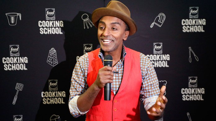 NEW YORK, NY - NOVEMBER 11: Chef Marcus Samuelsson delivers the opening remarks of Food Network Magazine's 2nd Annual Cooking School featuring Marcus Samuelsson on November 11, 2017 in New York City. (Photo by Brian Ach/Getty Images for Food Network Magazine)