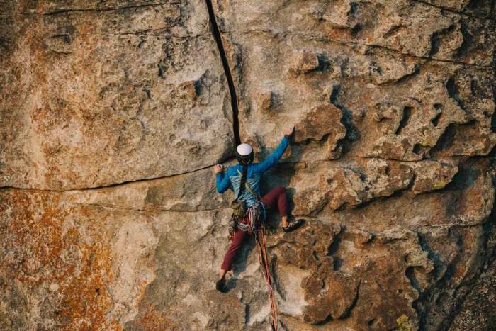 lead rock climbing idaho city of rocks