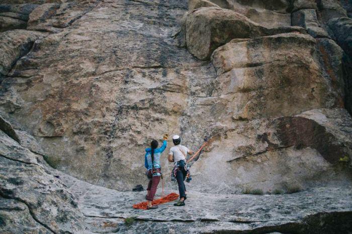 Andy Cochrane climbing city of rocks idaho