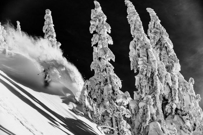 KC Deane skiing at Mount Baker