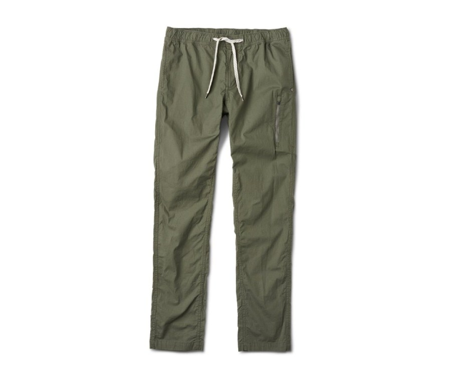 Vuori is known for casual beach and exercise wear—not the most likely candidate for top-level backpacking attire—but I find the Climber Pant ticks all the boxes. The rip-stop material is rugged, not easily torn, and fairly impermeable by dirt and moisture. It's also liberatingly stretchy and features well-placed, generous pockets.