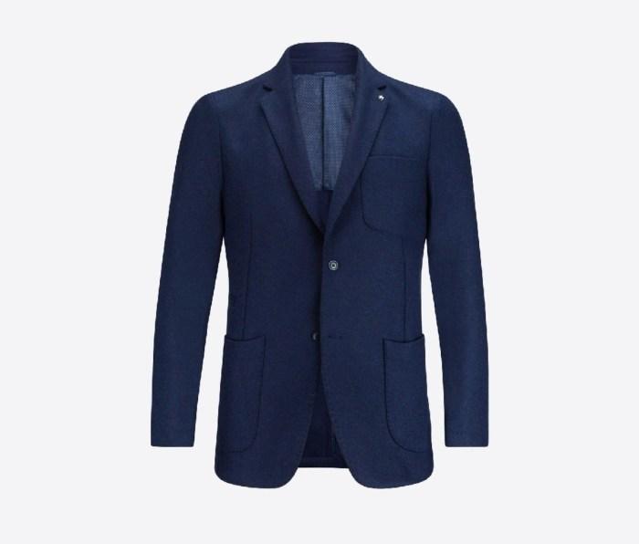 A blue Bugatchi blazer
