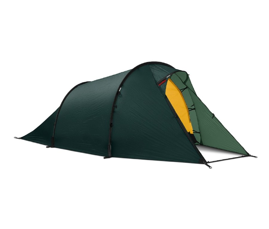 Green, two-person tent