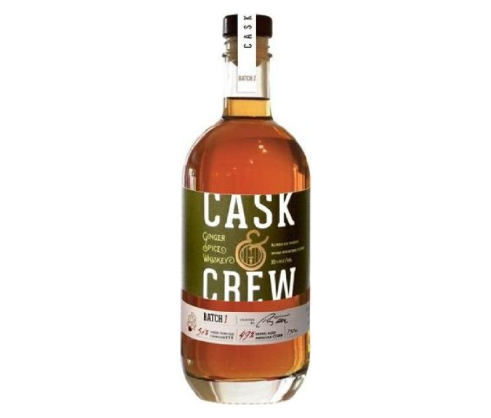 A bottle of Cask & Crew Ginger Spice Whiskey.