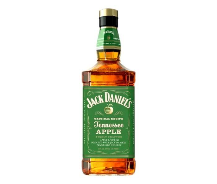 A bottle of Jack Daniel's Tennessee Apple whiskey.