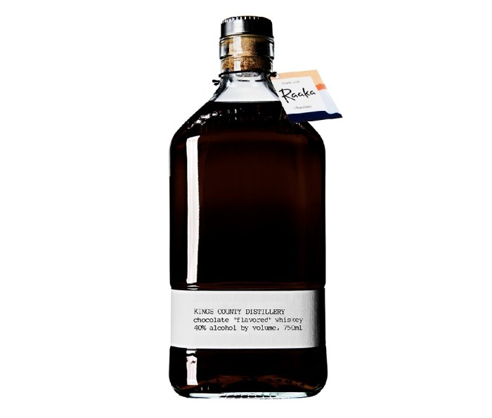 A bottle of Kings County Chocolate Whiskey.