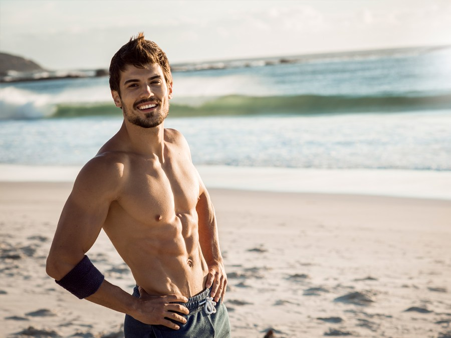 Fit Man on the Beach