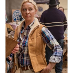 Asher Keddie Angela Rams 2020 Brown Vest